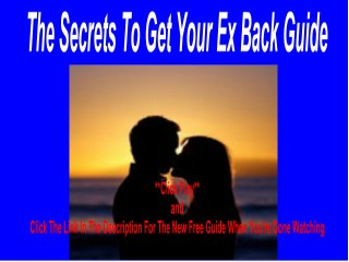 Insights Into Trouble-Free how to win back an ex love Products
