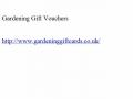 Gardening Gift Vouchers|Garden Gift Certificate