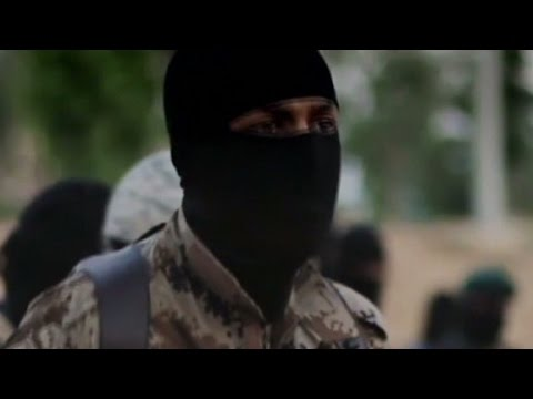 Is an American speaking in ISIS video?